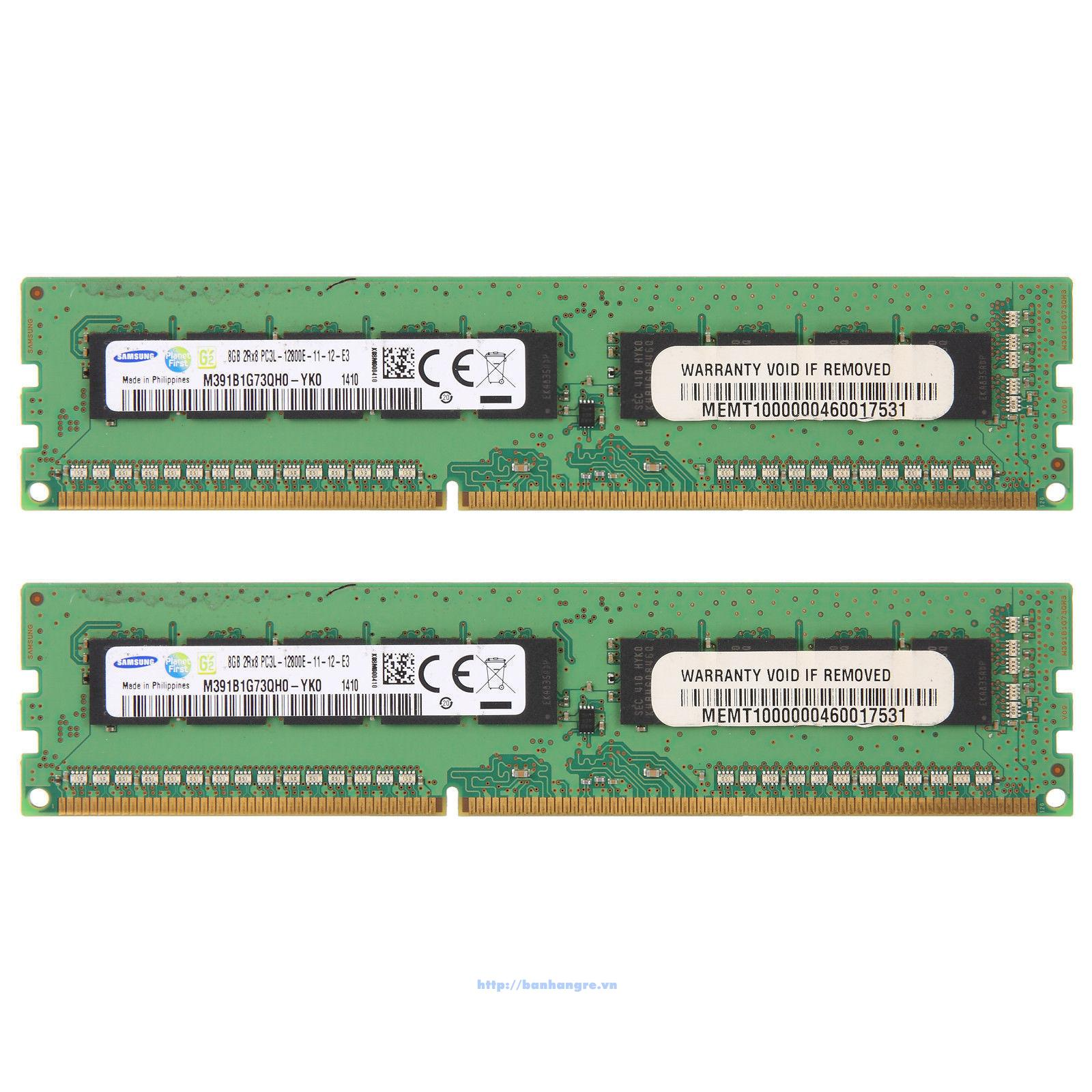 RAM PC3 -12800E Unbuffered ECC 8GB