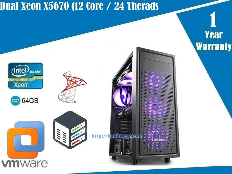 Server 01- Dual Xeon X5670, 12 Core / 24 Therads, Ram DDR3 ECC 32GB