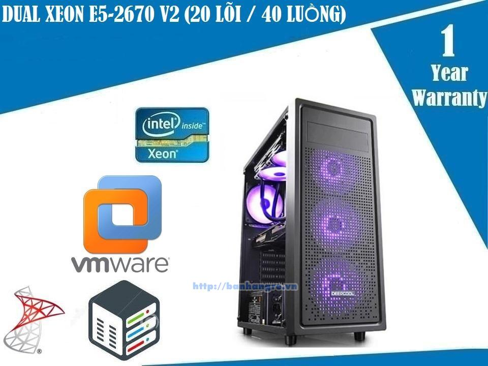 Server 05- Dual Xeon E5-2670 V2, 20 Core / 40 Therads, Ram DDR3 ECC 64GB